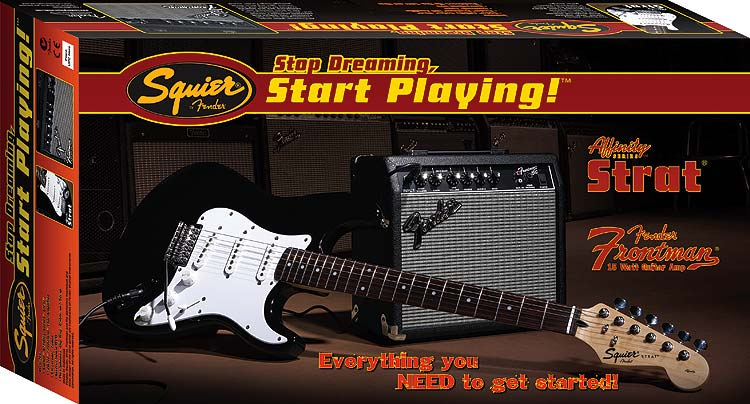Stop Dreaming, Start Playing™ Set: Affinity Strat® Special with Fender Frontman Amp® 1