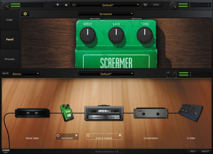 Line 6 POD Studio GX Screenshot 3