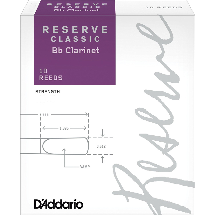 Reserve Classic Bb Clarinet Reeds - 2.5