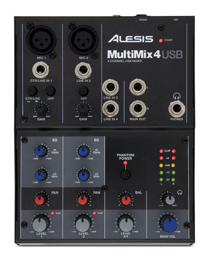 Alesis MultiMix 4 USB Top View