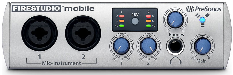 Presonus FireStudio Mobile Front View
