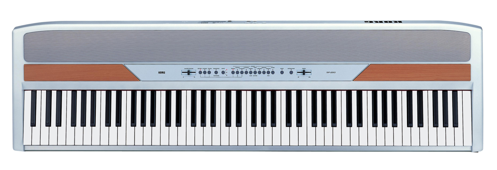 Korg SP250  Digital Piano White Finish Top View