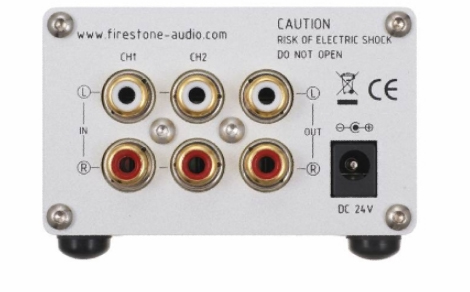 Firestone Audio MASS - Gray Acrylic Faceplate Rear View