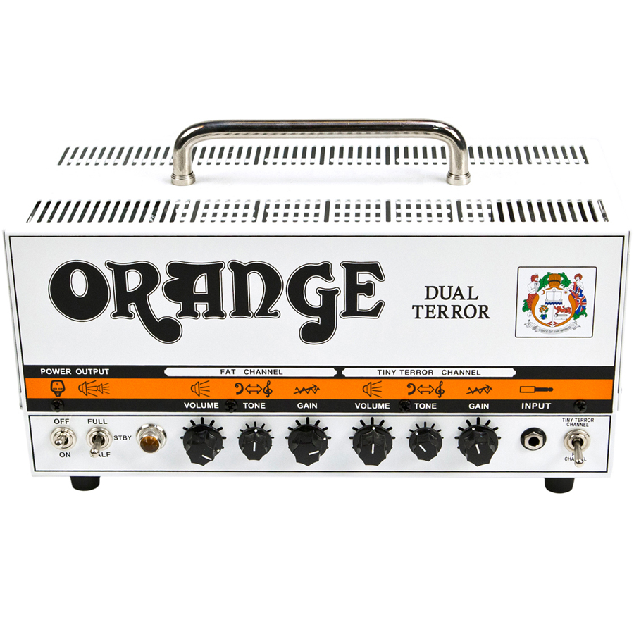 Orange DT30H Dual Terror Top Angle