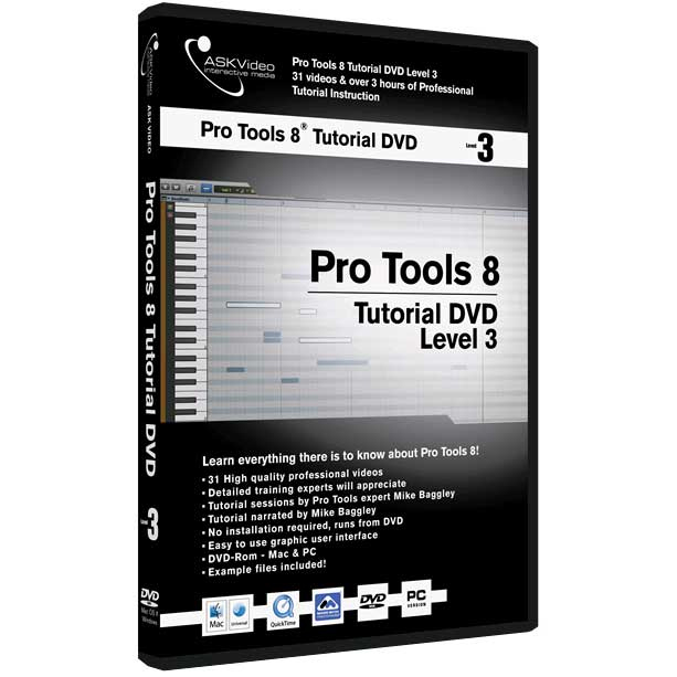 Pro Tools 8 Tutorial DVD Level 3