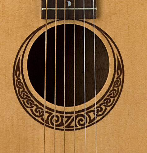 Luna Guitars Safari Muse Travel Guitar - Spruce Body Detail