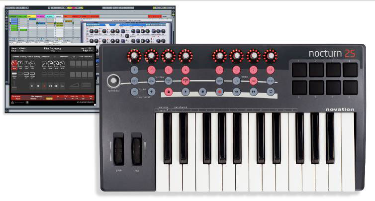 Novation Nocturn 25 Software Included