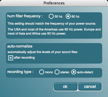 iZotope Music & Speech Cleaner Prefrences