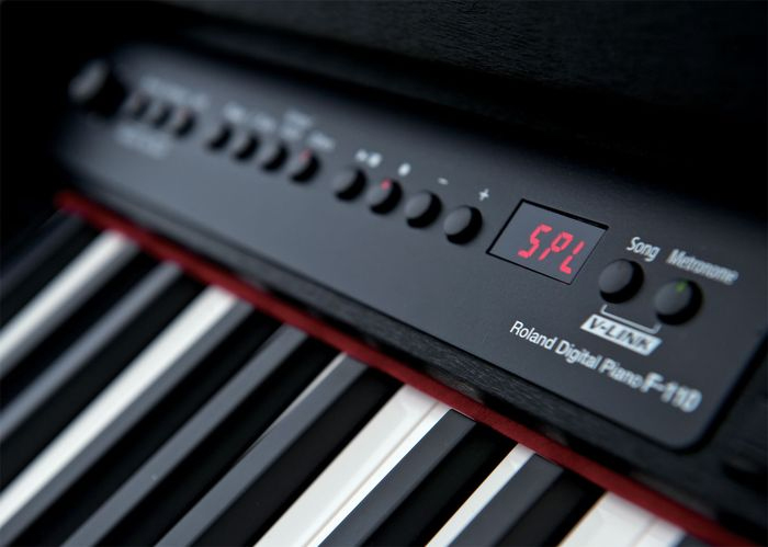 Roland F-110 Compact Digital Piano - Satin Black Close Up