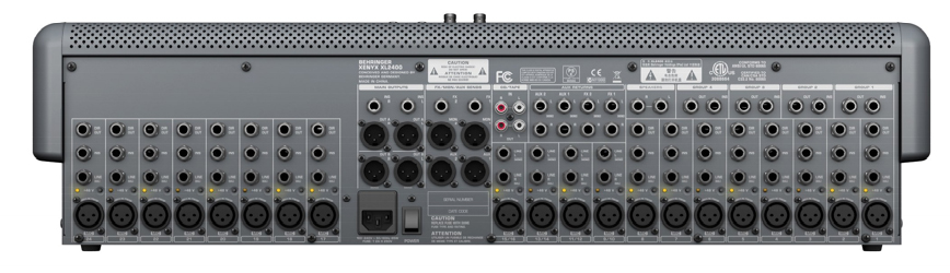 Behringer XENYX XL2400 Rear View