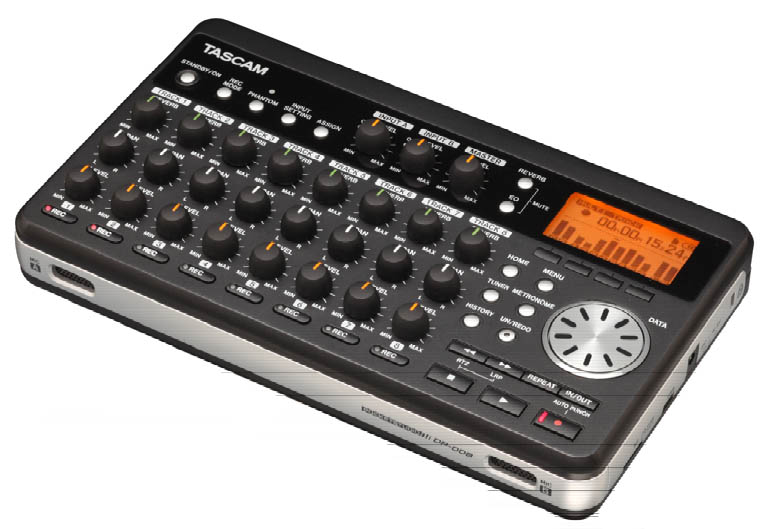 Tascam DP-008EX Angled View
