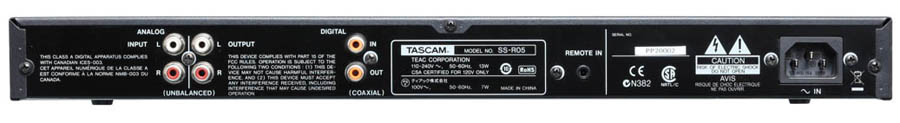 Tascam SS-R05 Rear View