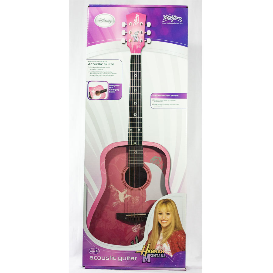 Washburn HMDPA34 Acoustic Hannah Montana - Miley Cyrus Guitar - Pink Box View