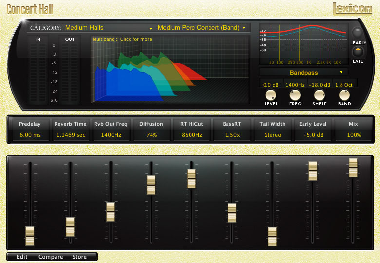 Lexicon PCM Native Reverb Plug-in Bundle Concert Hall Multiband Bandpass