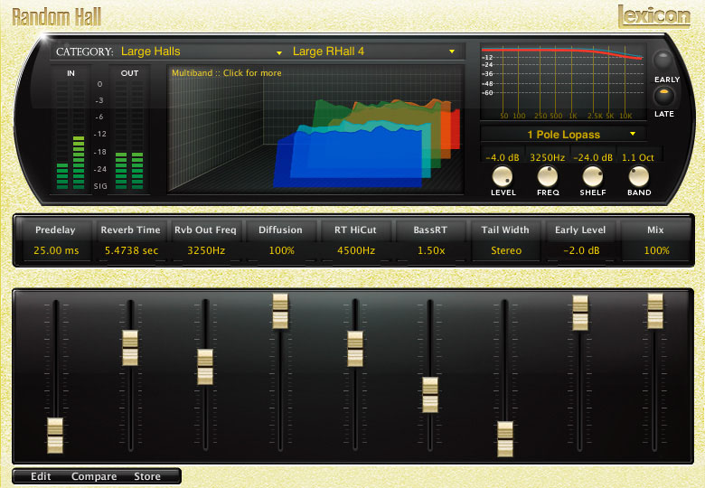 Lexicon PCM Native Reverb Plug-in Bundle Random Hall Multiband Lopass