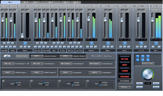 Focusrite Saffire Pro 24 Screenshot