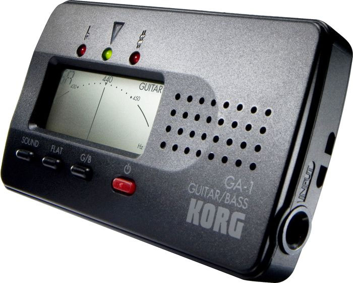 Korg GA-1 Guitar and Bass Tuner Angled View