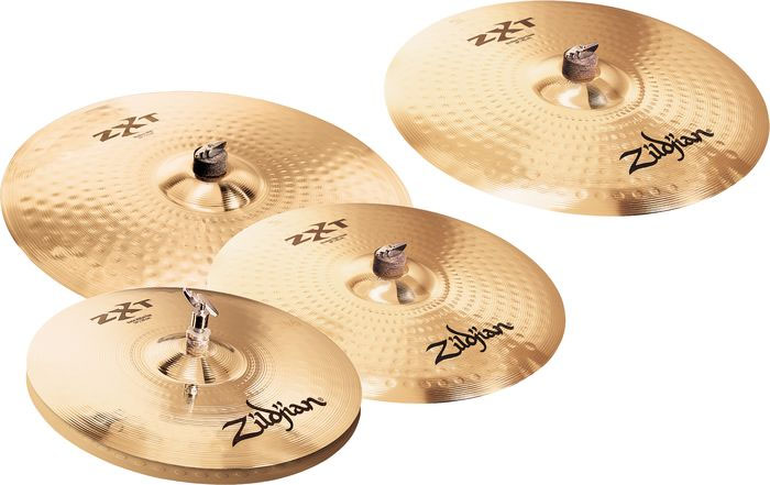 Zildjian ZXTR4P-9 ZXT Rock Cymbal Box Set Group Shot