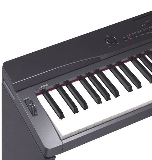 Casio PX330 88 Key Digital Stage Piano with Tri-Sensor Scaled Hammer Action Close Up