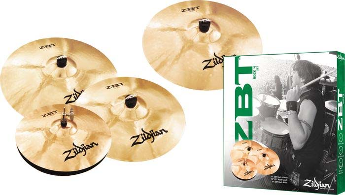 ZBT 4 Pro Cymbal Pack with Free Rock Crash