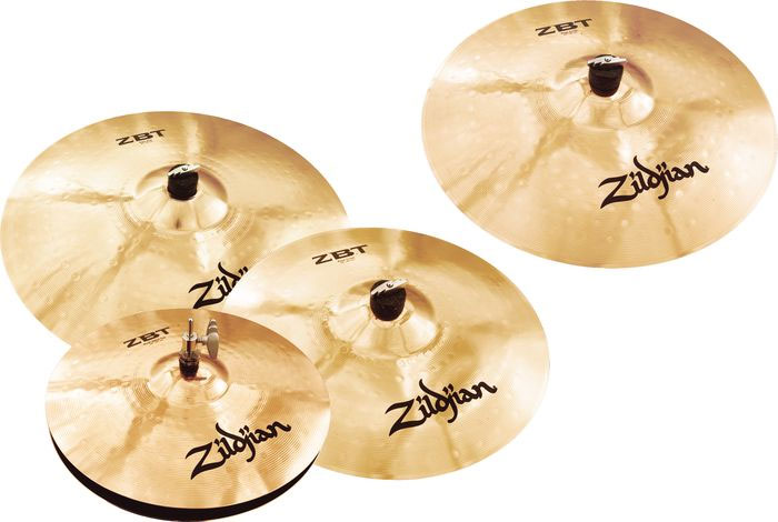 Zildjian ZBT 4 Pro Cymbal Pack with Free Rock Crash Group Shot