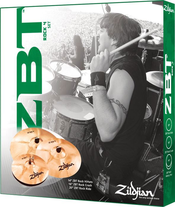 Zildjian ZBT 4 Pro Cymbal Pack with Free Rock Crash Box