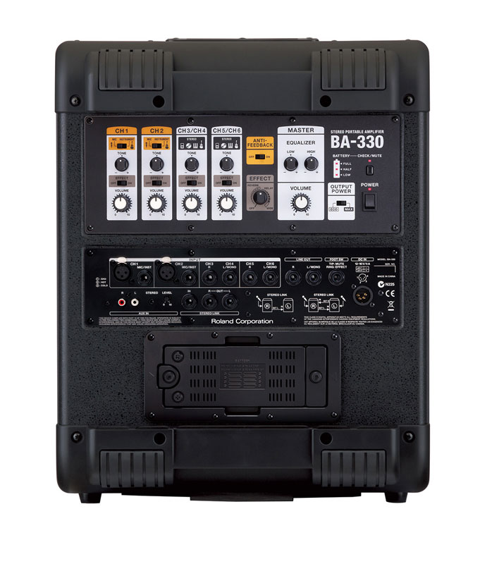 Roland BA-330 Open Box Rear View