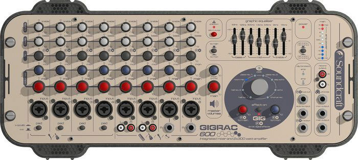 Soundcraft GigRac 600 Front View