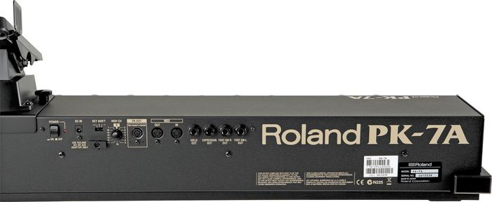 Roland PK-7A Foot Pedal Rear Detail