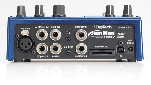 Digitech JamMan Stereo Rear View