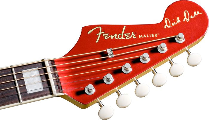 Fender Dick Dale Signature Malibu SCE Headstock