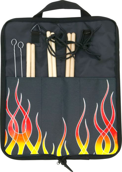 Kaces Grafix Xpress Stick Bag - Hot Rod Flame Opened Case