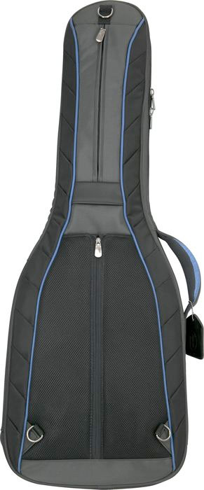 Reunion Blues RBC3 Classical Guitar Case - Black Rear View (shown in blue)