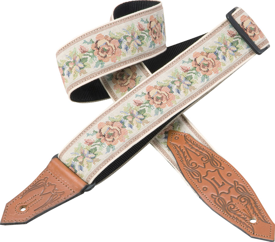 MSSJ80-01 Dusty-Rose Jacquard Guitar Strap