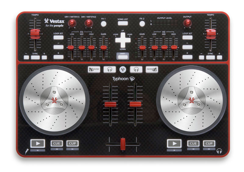 Typhoon DJ Midi Controller w/ Bundled Traktor Software