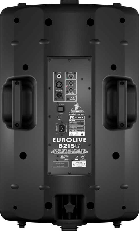 Behringer Eurolive B215D Active PA Speaker Rear View