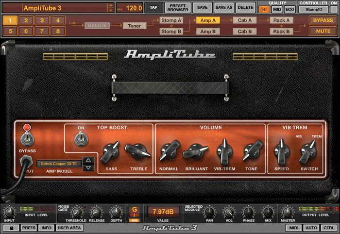 Ik Multimedia AmpliTube 3 Screenshot - Amp