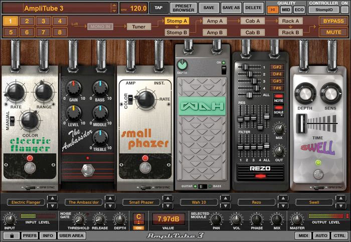 Ik Multimedia AmpliTube 3 Screenshot - Stomp