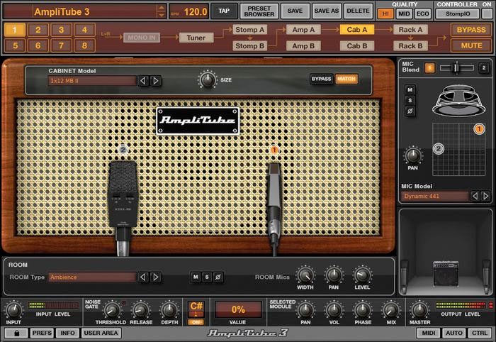 Ik Multimedia AmpliTube 3 Screenshot - Cab