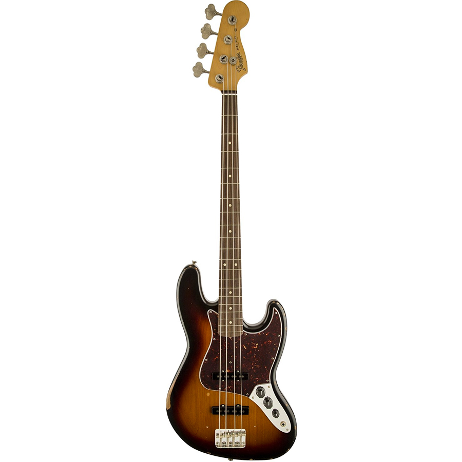 Road Worn 60s Jazz Bass - 3-Color Sunburst