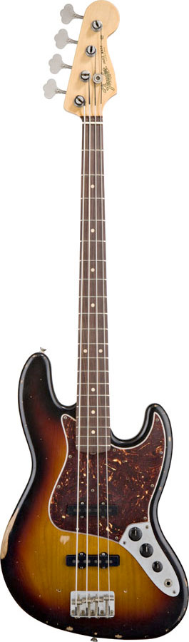 Road Worn 60s Jazz Bass® - 3-Color Sunburst
