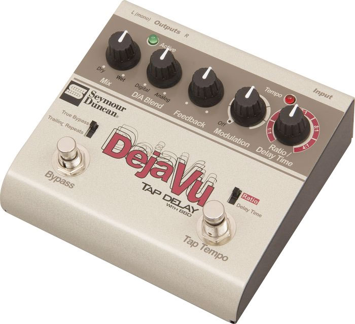 Seymour Duncan SFX-10 Deja Vu Tap Delay With BBD Angled View