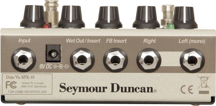 Seymour Duncan SFX-10 Deja Vu Tap Delay With BBD Rear View