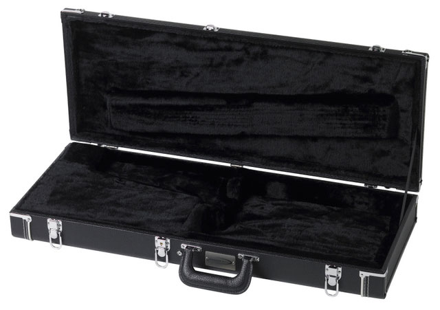 Traveler Black Tolex Hardshell Case Case, Opened