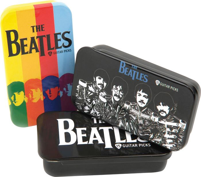 Planet Waves Beatles Stripes Pick Tin Group Shot