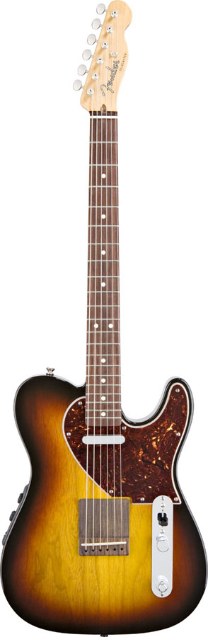 Fender Acoustasonic Telecaster Acoustic Electric Guitar 3-Tone Sunburst