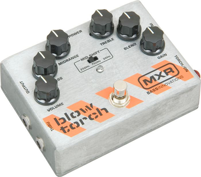 MXR Bass Blowtorch Overdrive Distortion Pedal M181  Right Angle