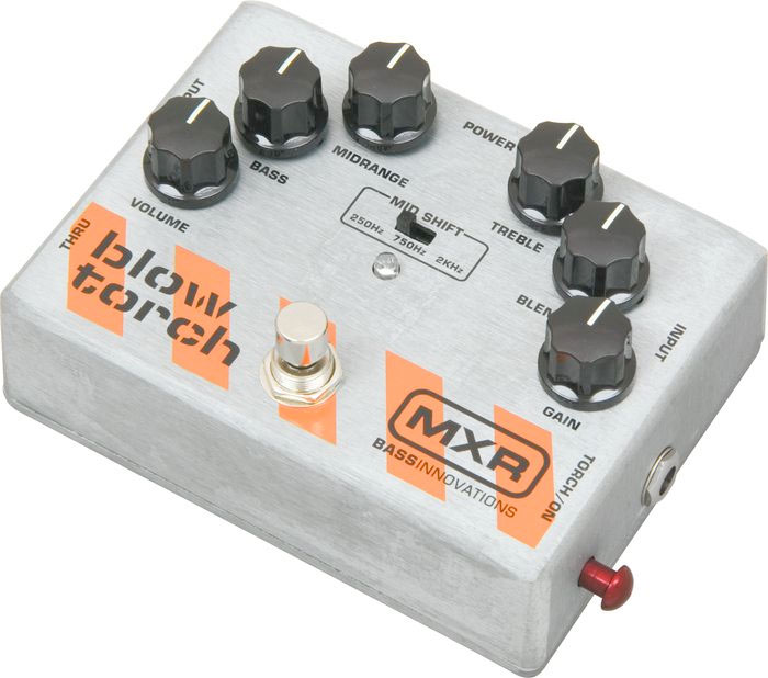 MXR Bass Blowtorch Overdrive Distortion Pedal M181  Left Angle