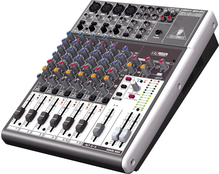 Behringer XENYX  1204USB Open Box Left Angle