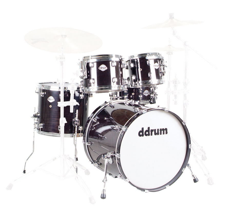DM22 Dominion Maple Player 5 Piece Shell Kit Drum Set - Black
